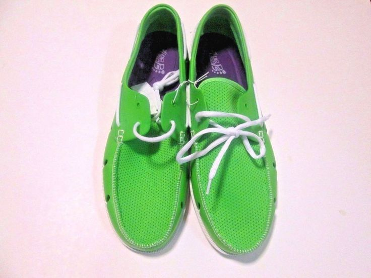 Mens Boat Shoes Beach Shoes Pool Shoes Green Casual Shoes SZ XL NEW FIVE FLOPS  #FIVEFLOPS #WATERBEACHBOATSHOES