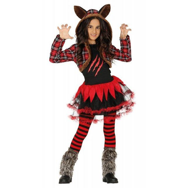 Horror Wolfsmadchen Kostum Fur Kinder Kleid Mit Kapuze Online