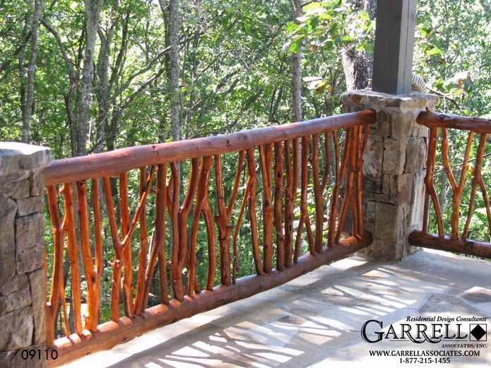 25 Best Images About Rustic Decks And Furniture On Pinterest Log Homes Deck Railings And