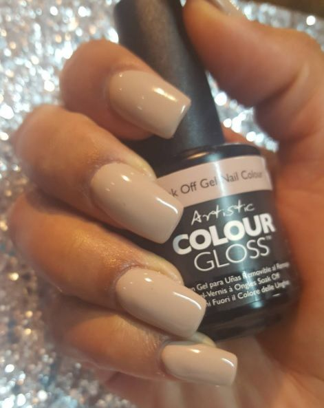 Artistic Colour Gloss Naked Moonlight available at Louella Belle #ArtisticNailDesign #ArtisticColourGloss #GelNails #GelPolish #Nude #NudeMakeup #NudeNails #Manicure #Salon #LouellaBelle
