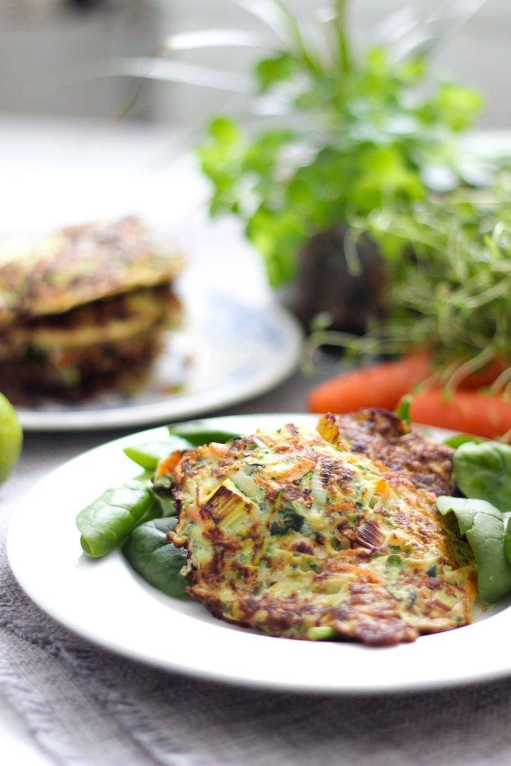Det känns väldigt kul att första receptet här på bloggen 2017 blir ett vegetariskt recept. Jag vill verkligen bli bättre på att laga vegetariskt under året som kommer. Jag älskar grönsaker och jag menar att det går inte att äta för mycket grönsaker. Grönsaker ger oss hälsosamma fibrer samt massa vitaminer och mineraler. En rejäl laddning med grönsaker på tallriken ökar dessutom mättningen bra. De här grönsaksplättarna kan ätas som en vegetarisk rätt och ha då gärna en kall sås på yoghurt…