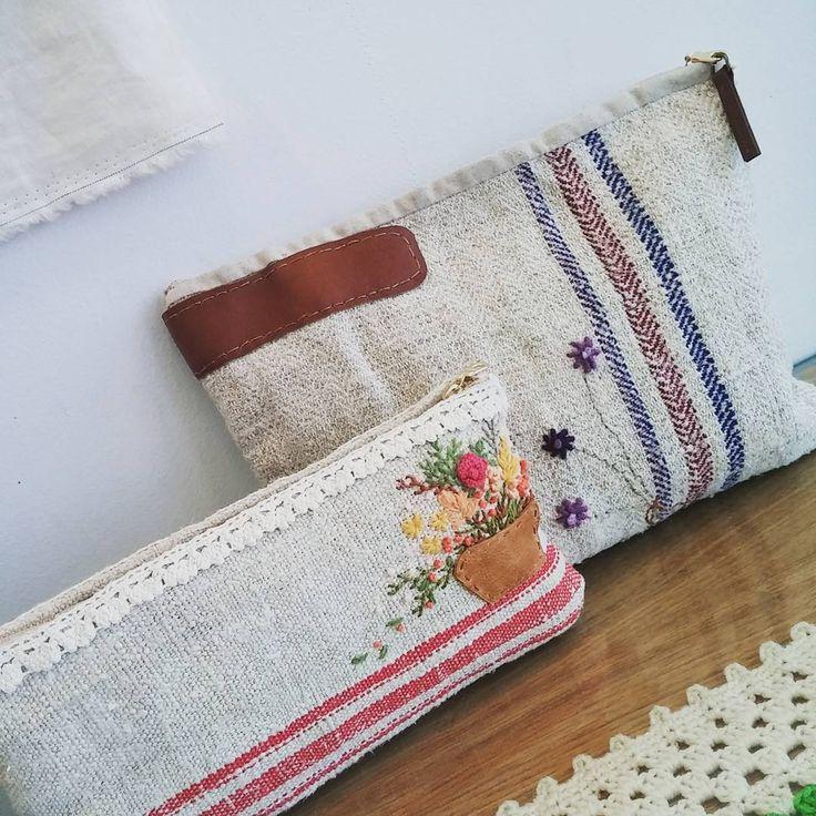 #Embroidery#stitch#needlework#Hamp clutch #프랑스자수#일산프랑스자수#자수 #햄프클러치~