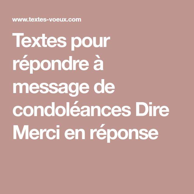 Textes pour répondre à message de condoléances Dire Merci en réponse