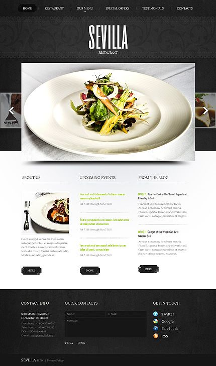 Delight your customers not only with palatable food but a unique and modern website. #webdesign #restaurant
