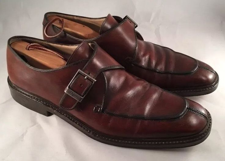 Salvatore Ferragamo Men's Brown Leather Split Toe Buckle Oxfords Size 9.5 D