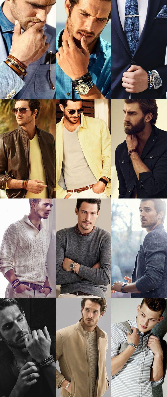 Men's Jewellery for 2015 Spring/Summer : Bracelets & Cuffs Lookbook Inspiration
