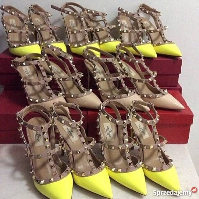 Szpilki Valentino Studded Neonowe  #okazja #okazje #valentino