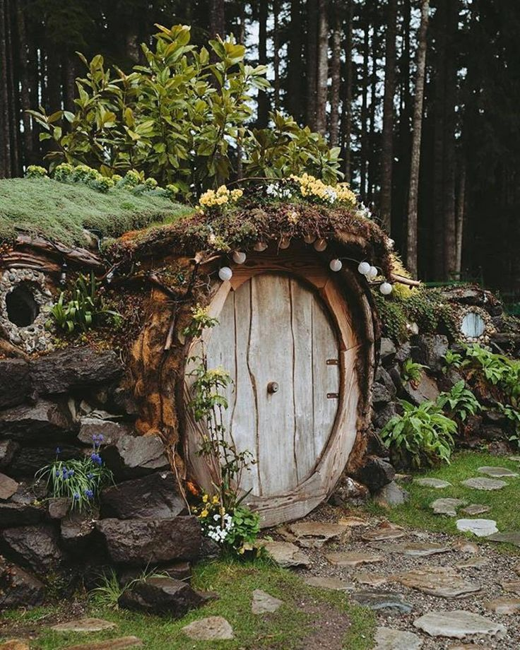 "cabinsdaily: ""Hobbit hole is live in forever. …"