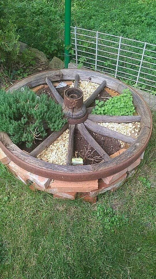 Dekoratives altes wagenrad Holz in Baden-Württemberg – Mühlhausen – Jacqueline Wagner