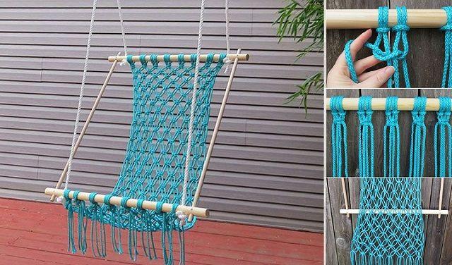 How To Make A Lovely DIY Macrame Hammock