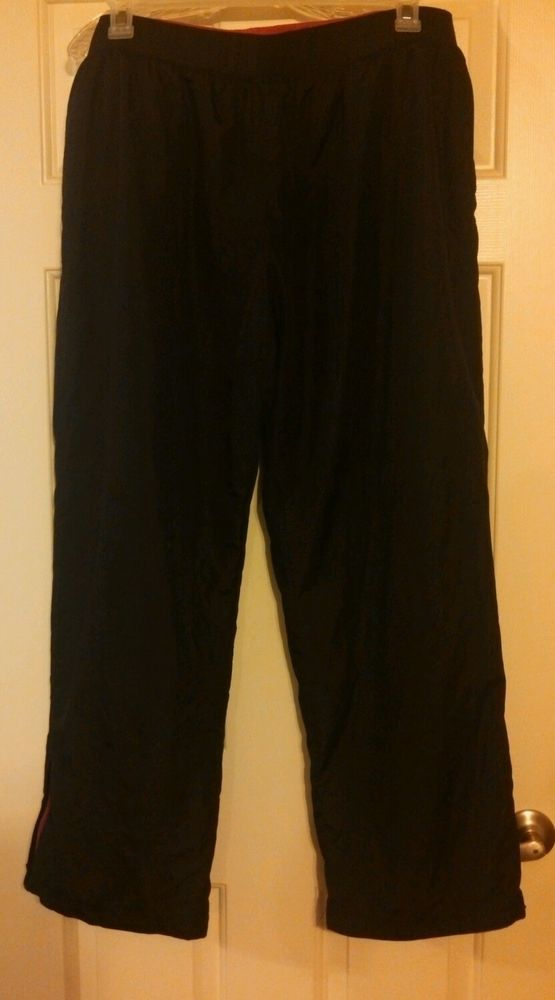 ATHLETIC WORKS Black Mesh Lined Athletic Running Wind ...