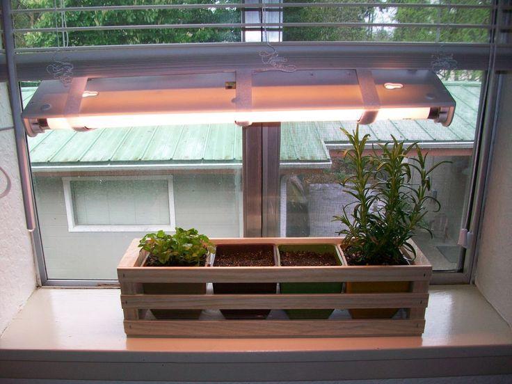 Simple Indoor Herb Garden With Adjustable Grow Light 400 x 300