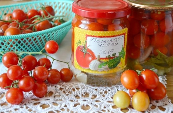 Фото консервированных помидоров черри на зиму