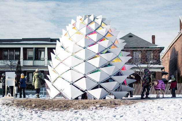 Snowcone by Lily Jeon and Diana Koncan (Ryerson University). Photo by Remi Carreiro (Pauses.ca)
