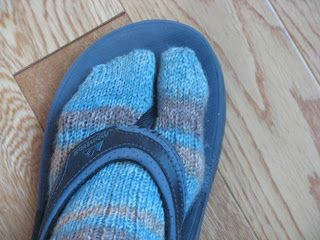 In the summer, I purchased some wonderful flip flops. They are Montrail, and mold perfectly to my feet. They are the first flip flops (I ...