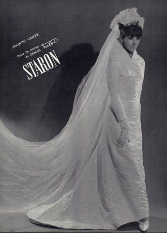 Jacques Griffe 1963 Wedding Dress Fashion Photography