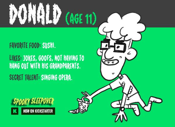 Meet Donald The Hot Sushi Slurping Spooky Storyteller In My New Comic