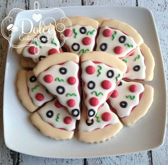Pizza Party Birthday Cookies