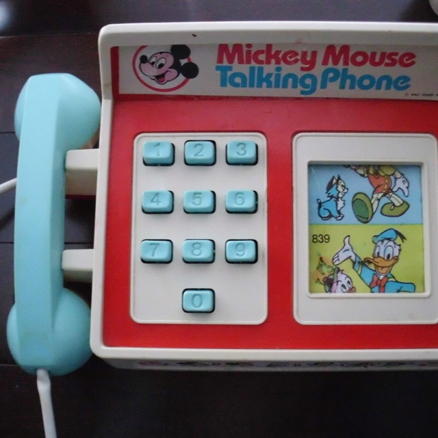 13755900152d32 This was how kids kept in touch with Mickey Mouse and Donald Duck.