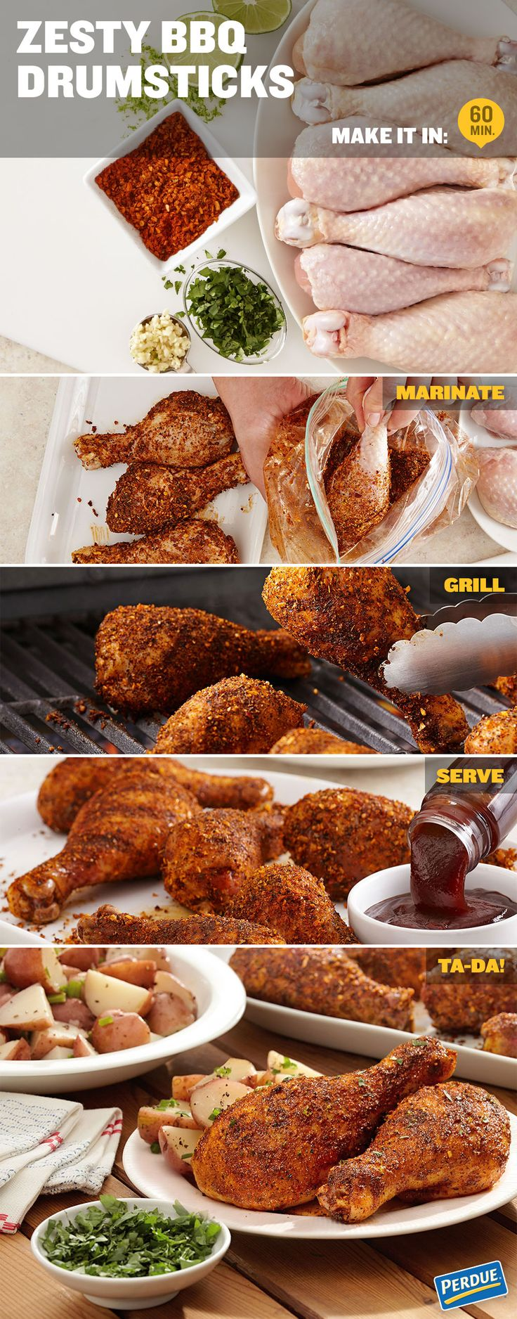 recipe for Zesty BBQ Drumsticks and have a Yummer Summer! In a gallon ...