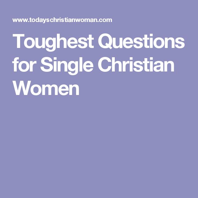 urena single christian girls But christian singles do have a life journey that does not include the the gospel compels us as single men and women christian research institute.