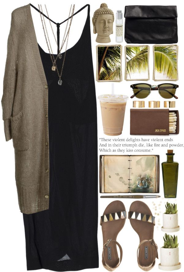 maxi dress + loose cardi + long layered necklaces + sandals + sunglasses