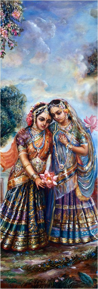 """Another gopī said, """"My dear Kṛṣṇa, You are the life and soul even of the lotus flower that grows on the water of lakes made transparent by the clear rains of autumn. Although the lotus flowers are so beautiful, without Your glance they fade away. Similarly, without You, we are also dying. Actually, we are neither Your wives nor slaves. You never spent any money for us, yet we are simply attracted by Your glance."""