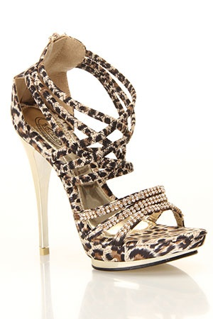Animal print and rhinestone shoes!  And a high gold heel.  Yowza!  www.harmanbeads.com: Fashion Shoes, Leopards Shoes, Leopards Heels, Sexy Heels, Sexy Leopards, Leopards Prints, Animal Prints, High Heels, Cheetahs Prints