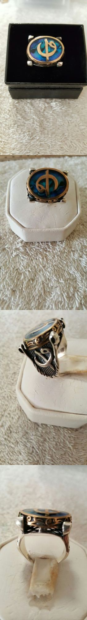 Rings 137856: Gentleman ! Turkish Handmade Sterling Silver 925K Mens Ring Size 10 BUY IT NOW ONLY: $34.75