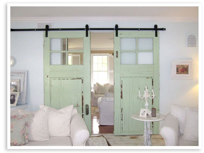 79 best images about beach cottage on pinterest beach for Barn doors to separate rooms