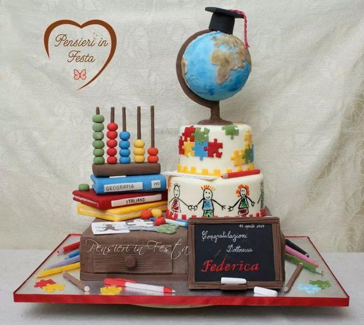 Torta laurea - maestra - cake