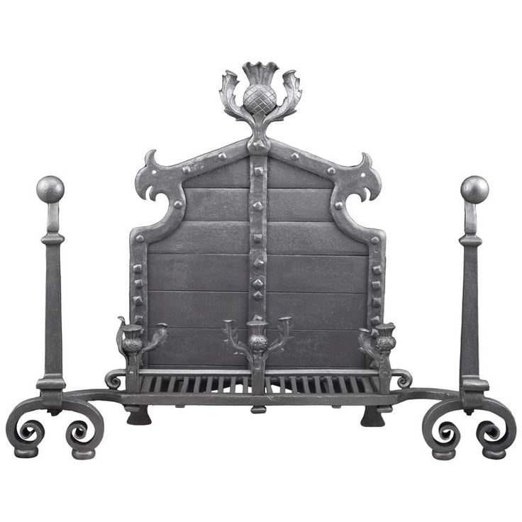 Unusually Large Antique Wrought Iron Log Basket, Scottish, circa 1890 | From a unique collection of antique and modern fireplaces and mantels at https://www.1stdibs.com/furniture/building-garden/fireplaces-mantels/