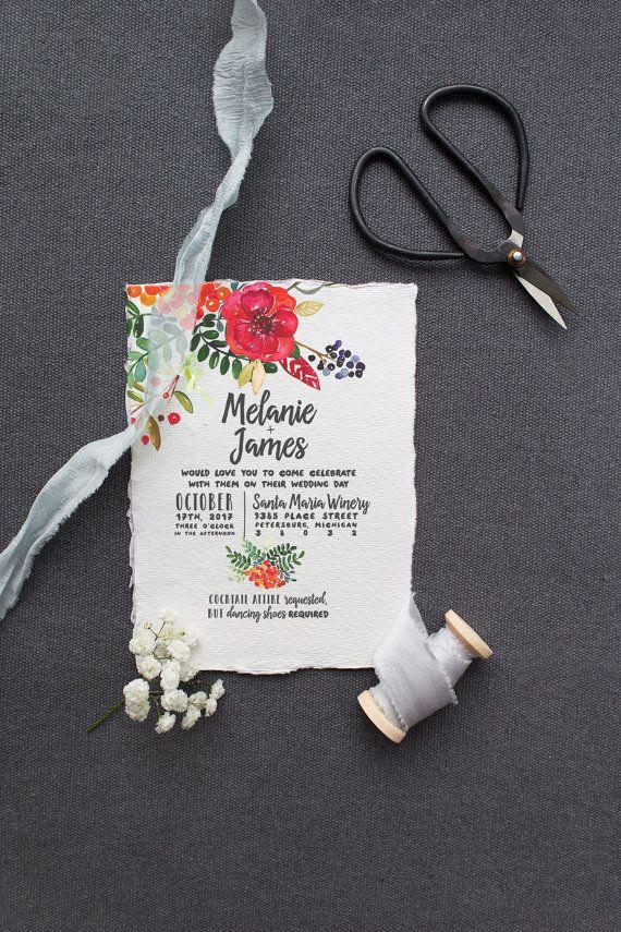 Garden Wedding Invitation Suite DEPOSIT DIY par SplashOfSilver