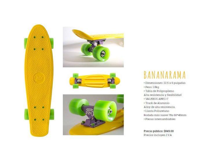 Oldskool is back! Grab your sunblock and slap that board this summer. Try not to slip on that peel - Bananarama #cruzeskateboards