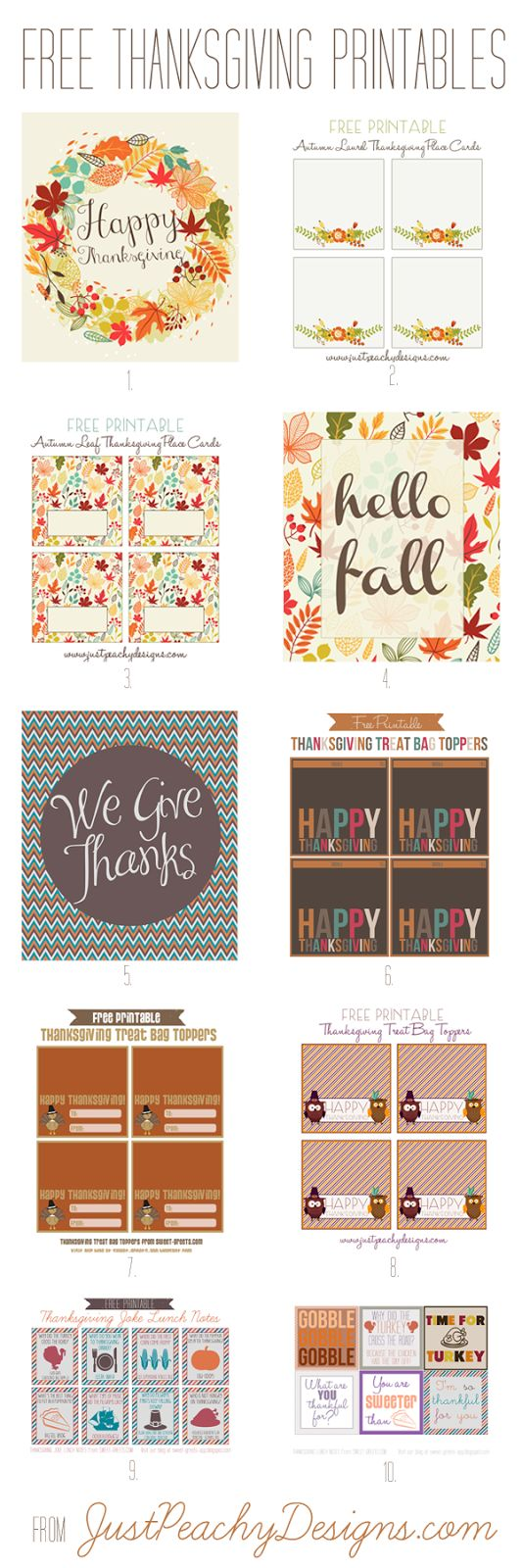 1058 best thanksgiving printables 2 images on pinterest