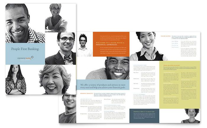 Private Bank Brochure Template Design by StockLayouts | Trifold ...
