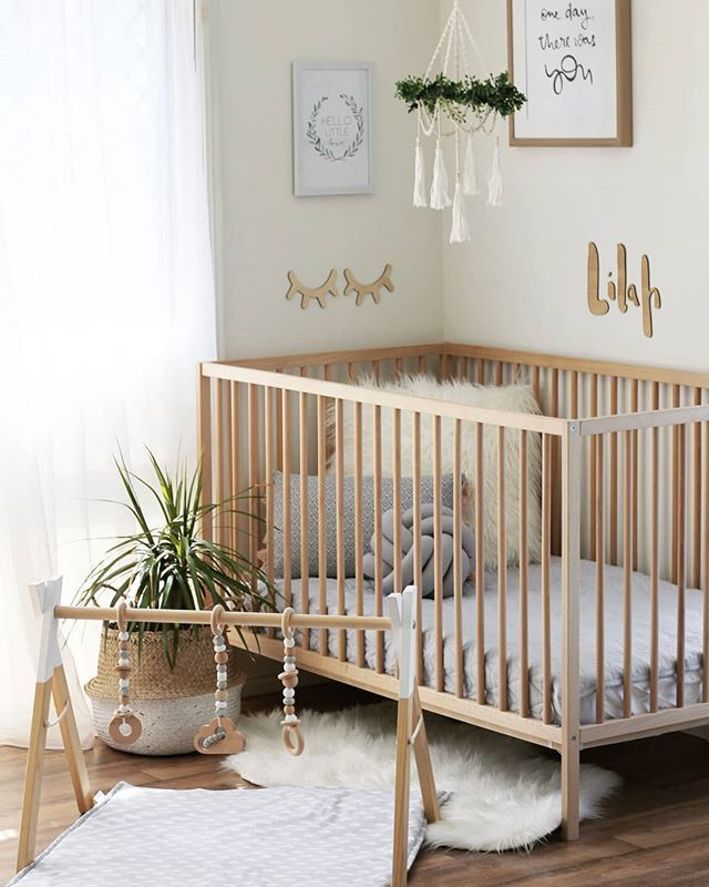 Natural Wood And Plants Gender Neutral Nursery Decor Baby Room Design Baby Nursery Decor