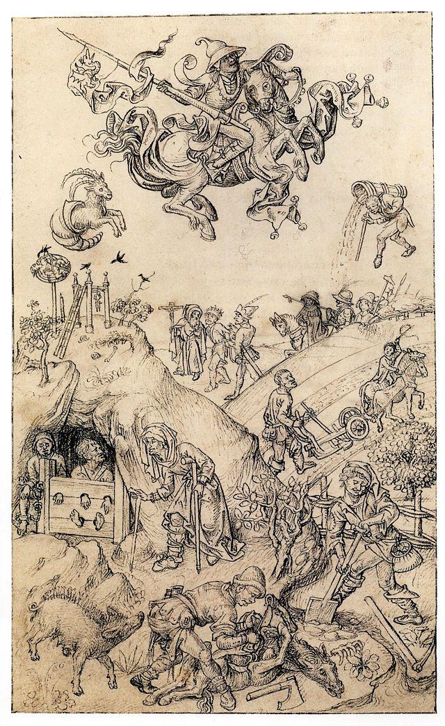 Hausbuch Wolfegg 11r Saturn - Category:Mittelalterliches Hausbuch von Schloss Wolfegg – Wikimedia Commons