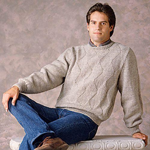 Ravelry: Men's Diamond Pullover pattern by Evie Rosen