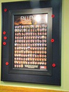Custom frame for Legion. Leave your poppy border.  Walkerworks.ca
