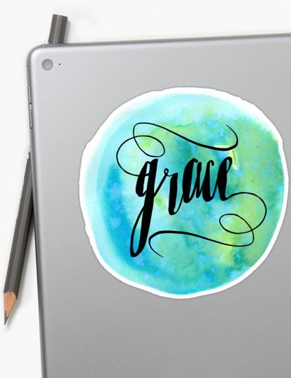 His grace is all we need, for by his grace, we have been saved. Beautiful design for a devotional mug or notebook. Stickers Tags  grace his grace gods grace praisequotes bible verse