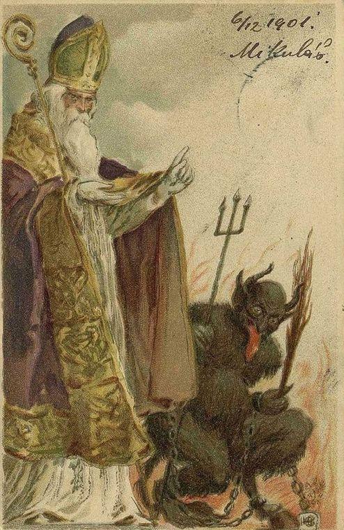 1901 - Mikulas, Krampus