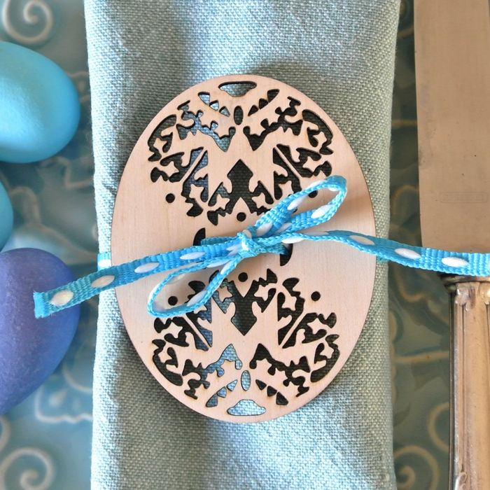 Geometric Easter Egg, Napkin Decoration