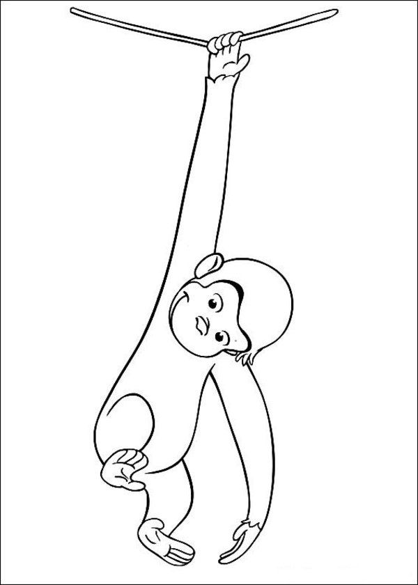 free printable curious george coloring pages - Curious George Coloring Book In Bulk