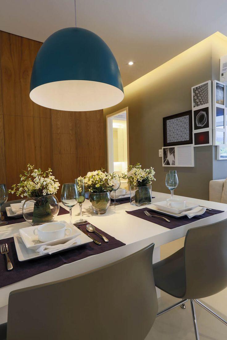 Pendente Cúpula Azul Turquesa · Dining RoomTurquoiseInteriorSala ...