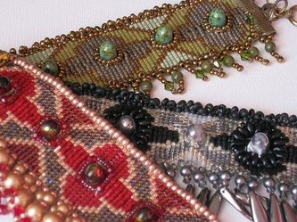 Loomed Solace cuff - designed for Digital Bead Magazine - Issue 4