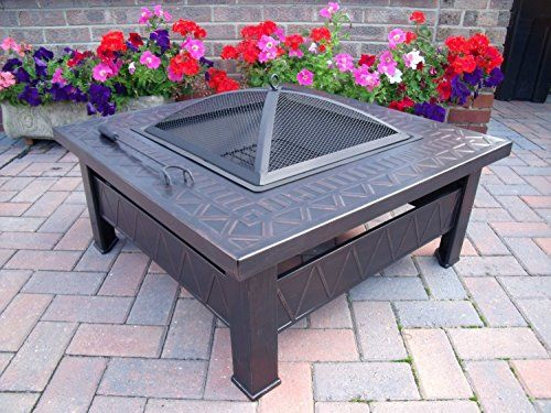 Garden Patio Fire Pit Decking Heater Metal Firepit Brazier Barbecue Table A