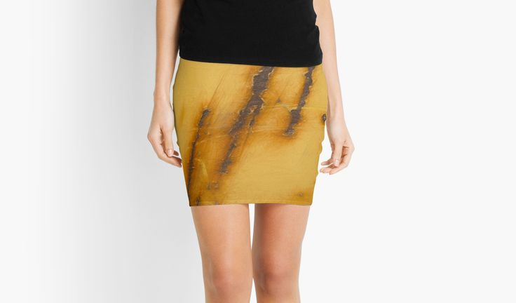 """Rusty Steel Yellow // Acier jaune rouillé"" Mini skirt by Galerie 503"