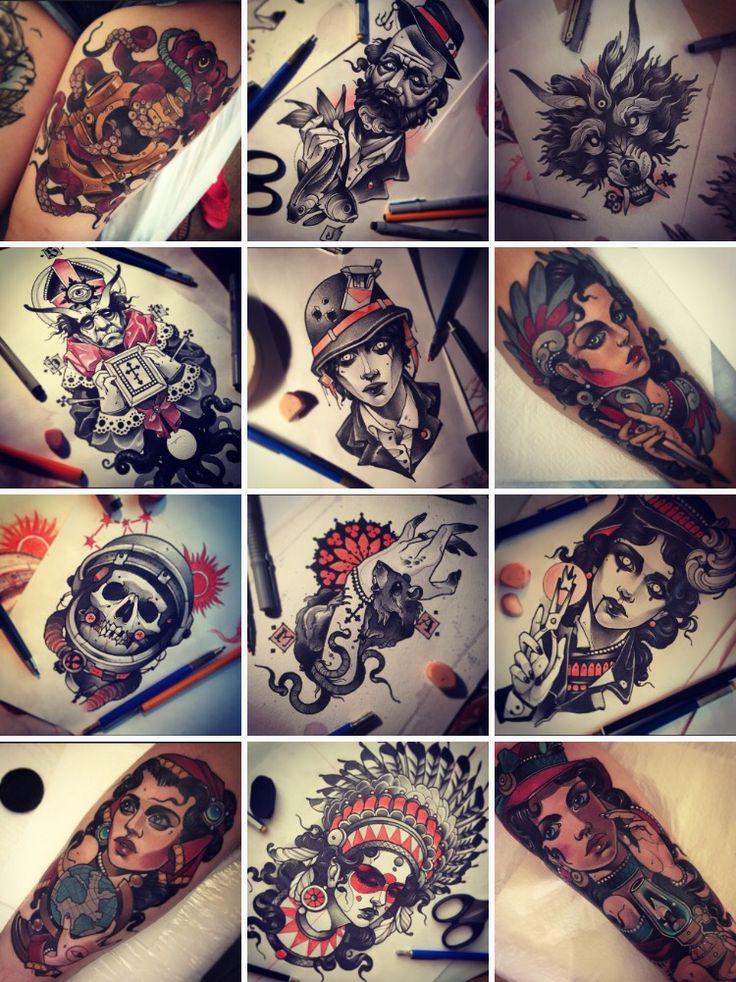 Vitally Morozov- neo traditional tattoos                                                                                                                                                     More