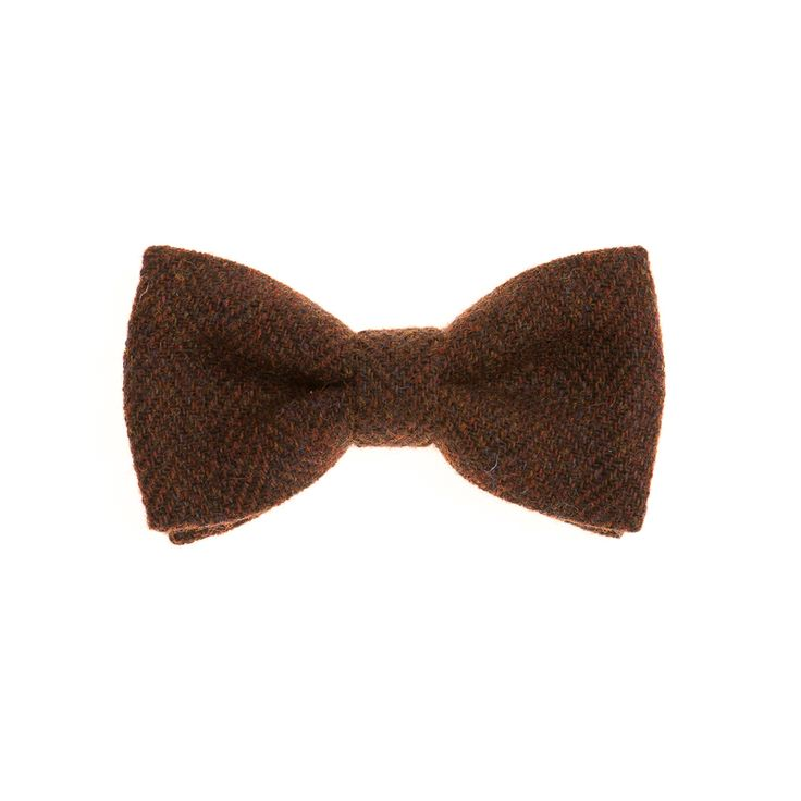 """Raised Brunet"" Donegal #Tweed  #Bowtie. FREE Worldwide Shipping!"